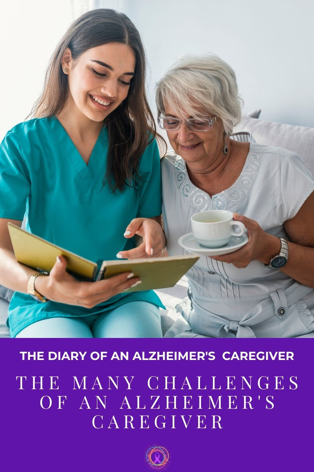 caregiver reading to her patient