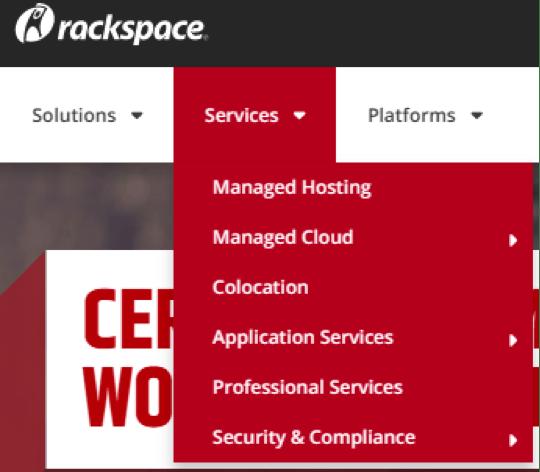 rackspace services