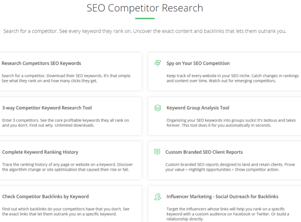 spyfu seo competitor research