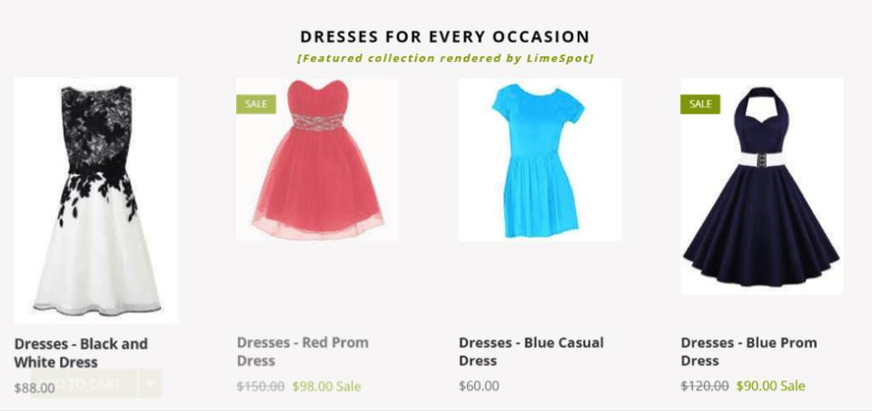 dresses personalizer