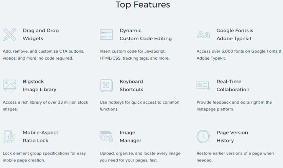 instapage features
