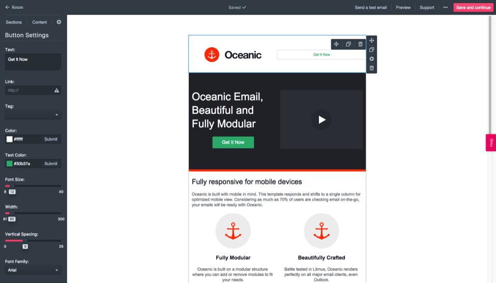 sendlane template email draft