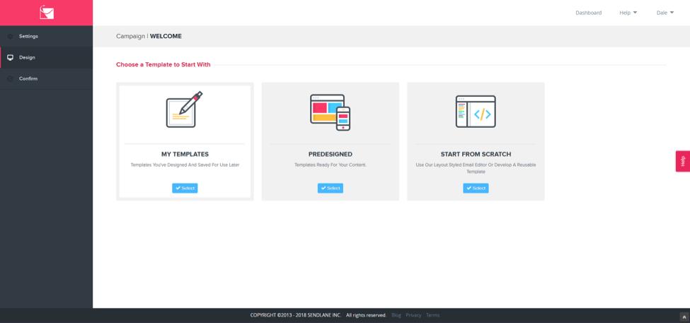 sendlane templates screenshot