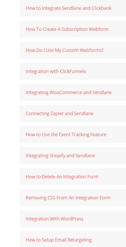 SendLane forms