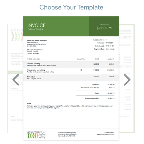 Wace Invoice Template Options