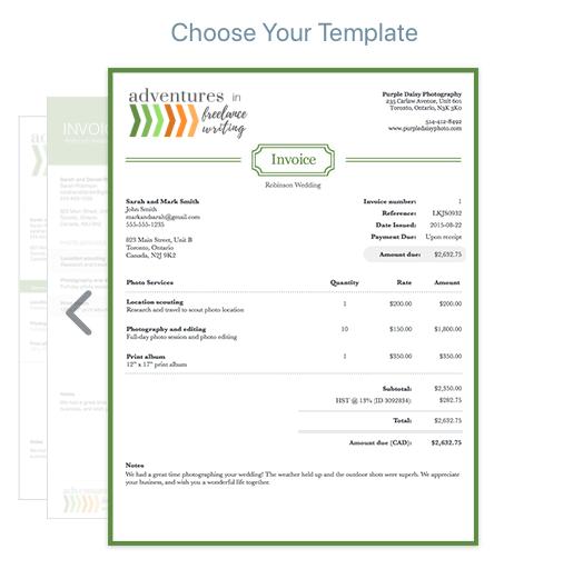 Wave Invoice Example