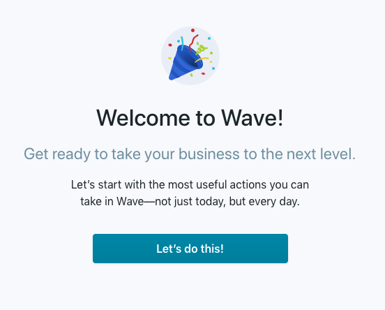 Wave Welcome Page