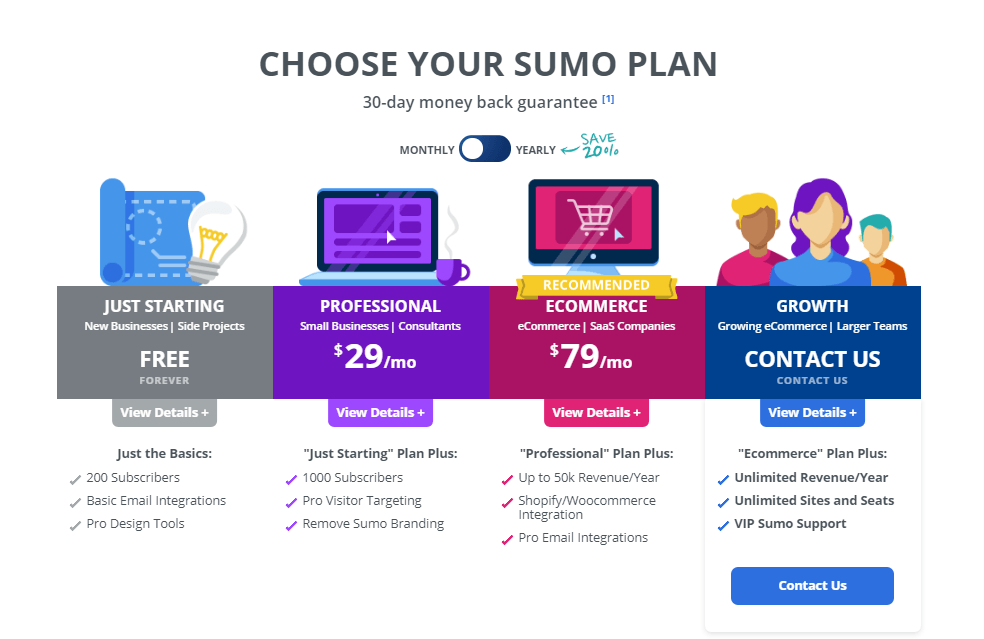 Choose Your Sumo Plan