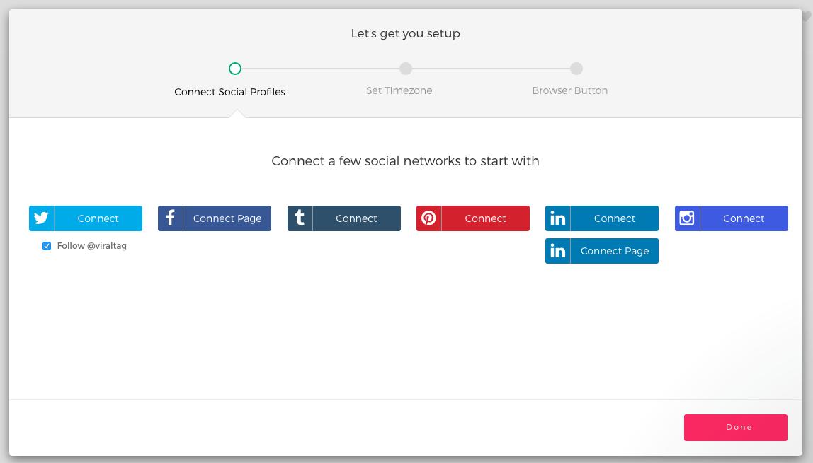 viraltag social profile setup