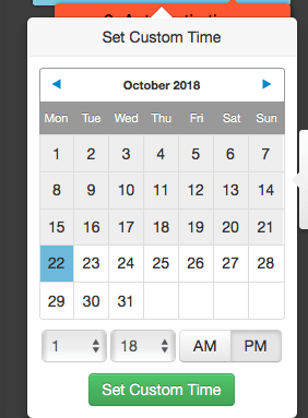tailwind custom date and time