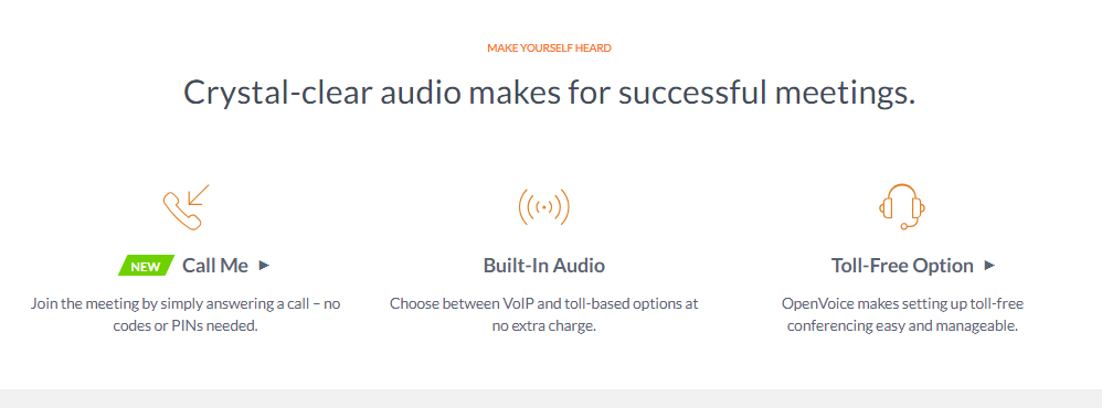 Gotomeeting audio features