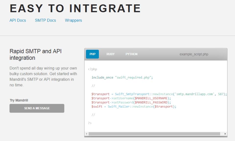 easy to integrate sendwithus