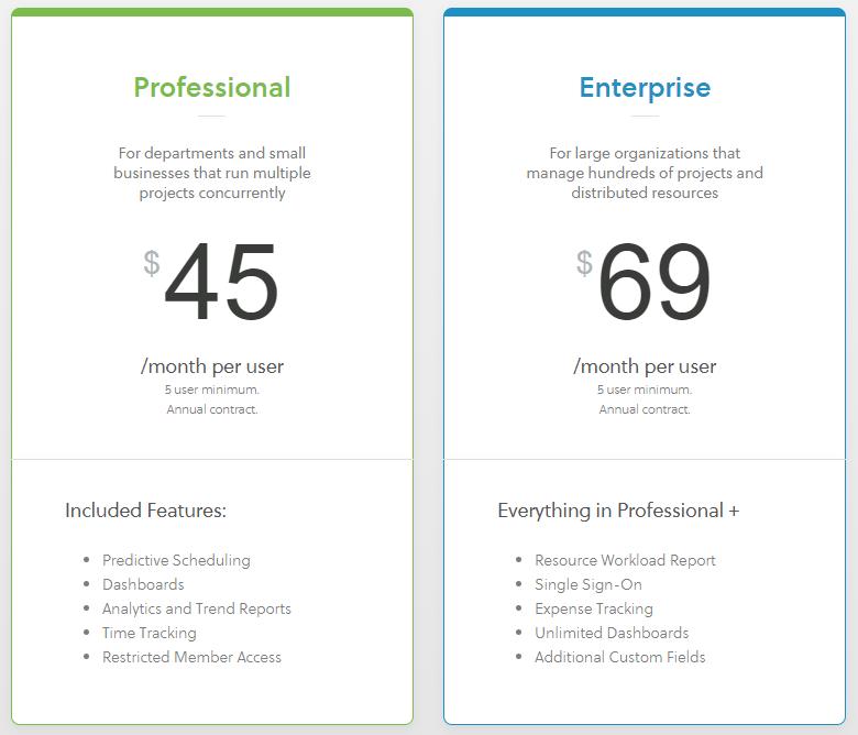 LiquidPlanner Pricing Options