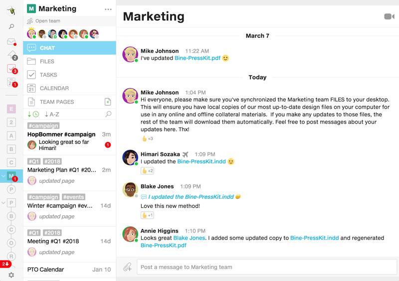 Marketing virtual team collaboration