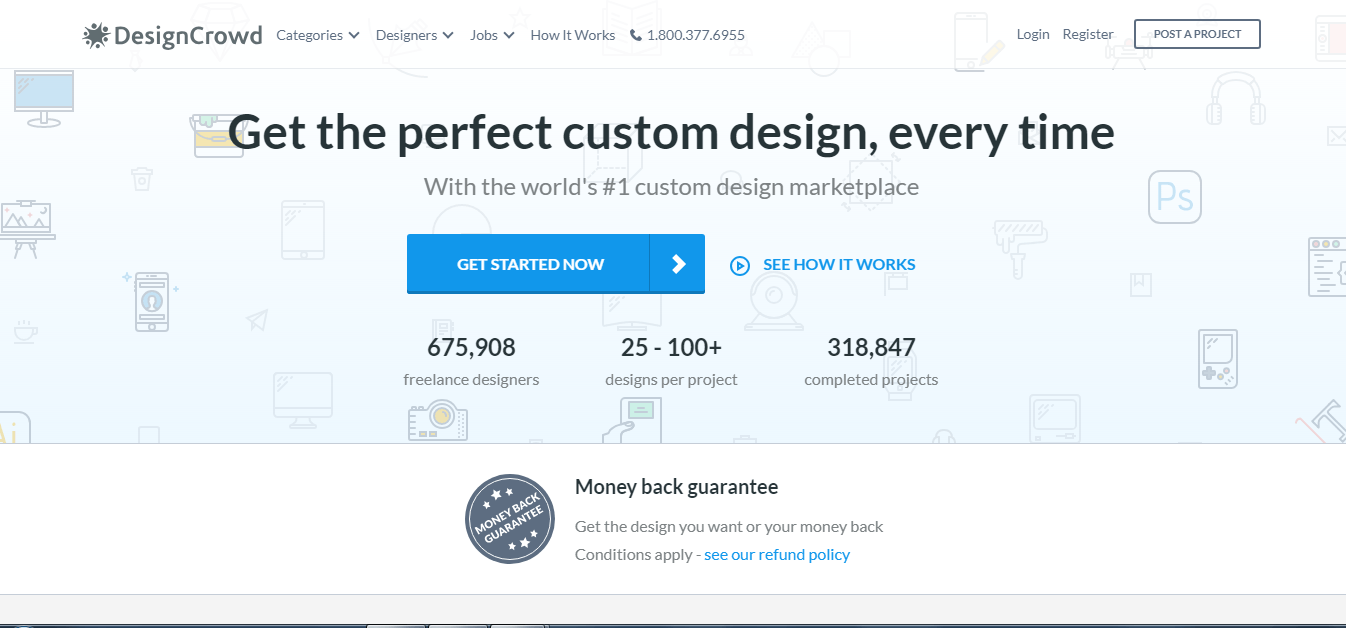 DesignCrowd home page