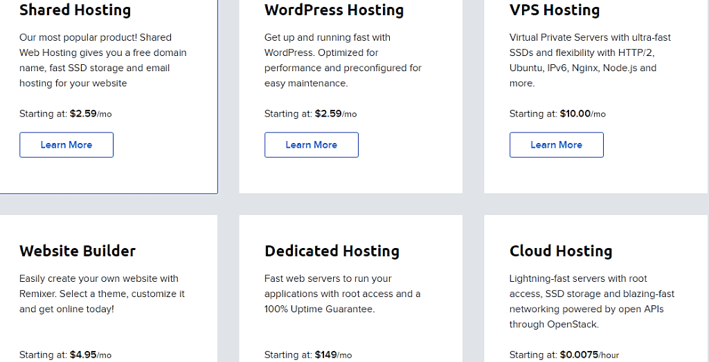 dreamhost pricing