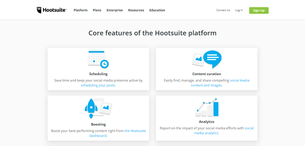 hootsuite features