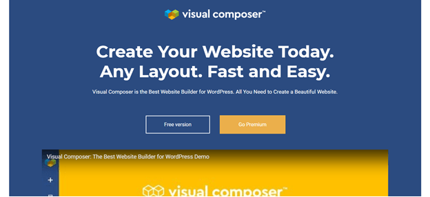 visual composer create your website
