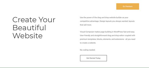 Create your beautiful website visual composer