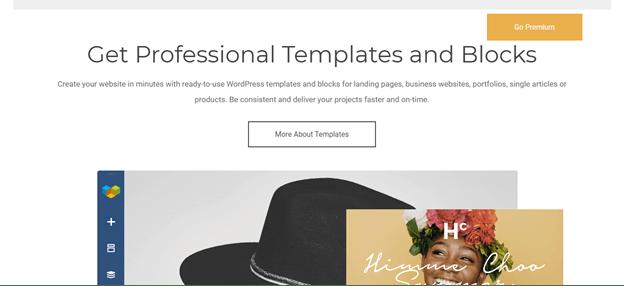 Visual Composer templates and blocks