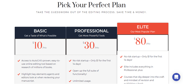 autocrit plan