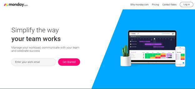 monday.com home page