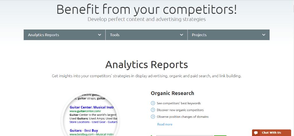 SEMrush Analytics Reports