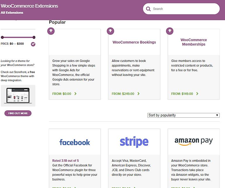 WooCommerce Extensnions
