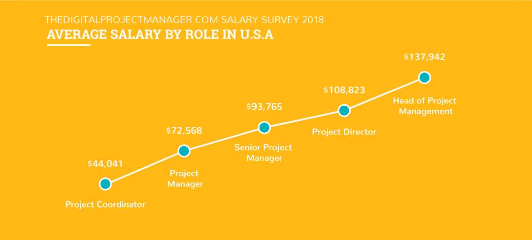 Digital project manager salary 2018 - united states