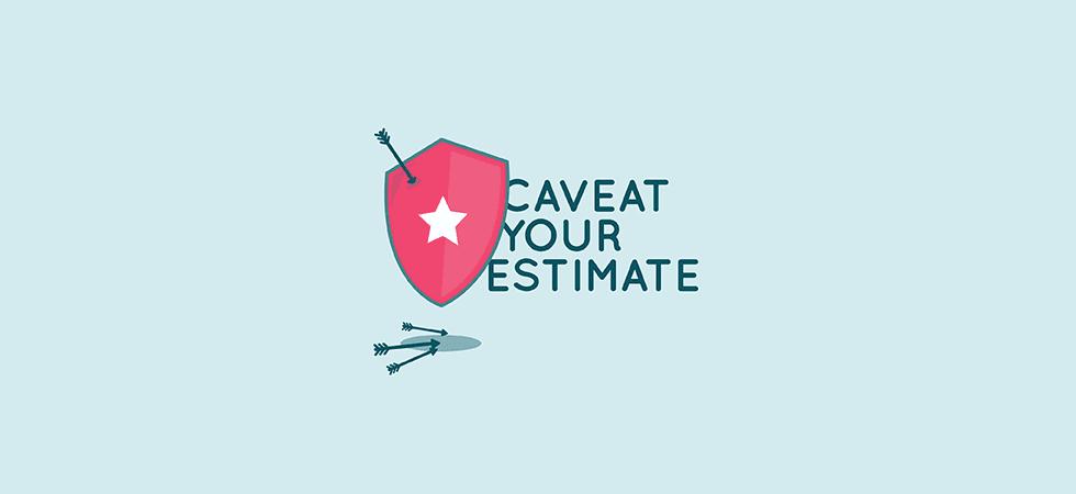 Project cost estimation - caveat your estimate