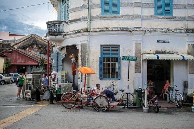 Life in downtown Georgetown, Penang