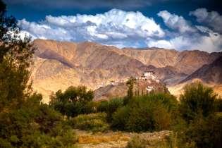Monasteries dot the landscape of Ladakh.