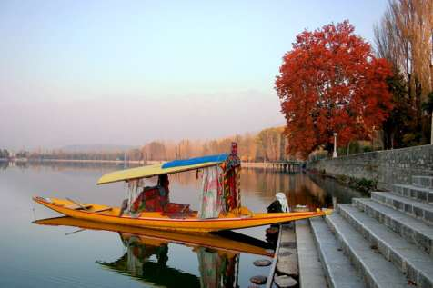 A shikara on Dal Lake.