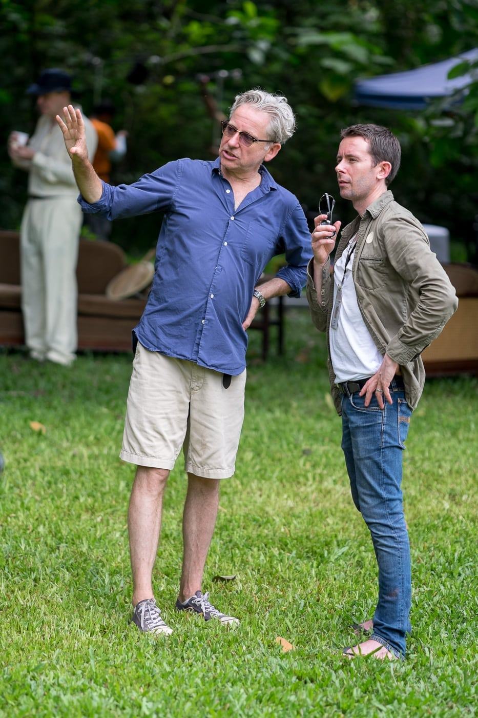 Director John Alexander and Producer Dan Winch discuss the day's shoot.