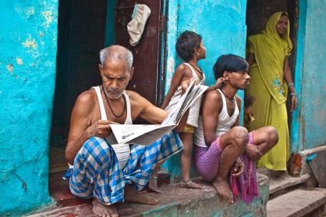 Morning life in Varanasi.