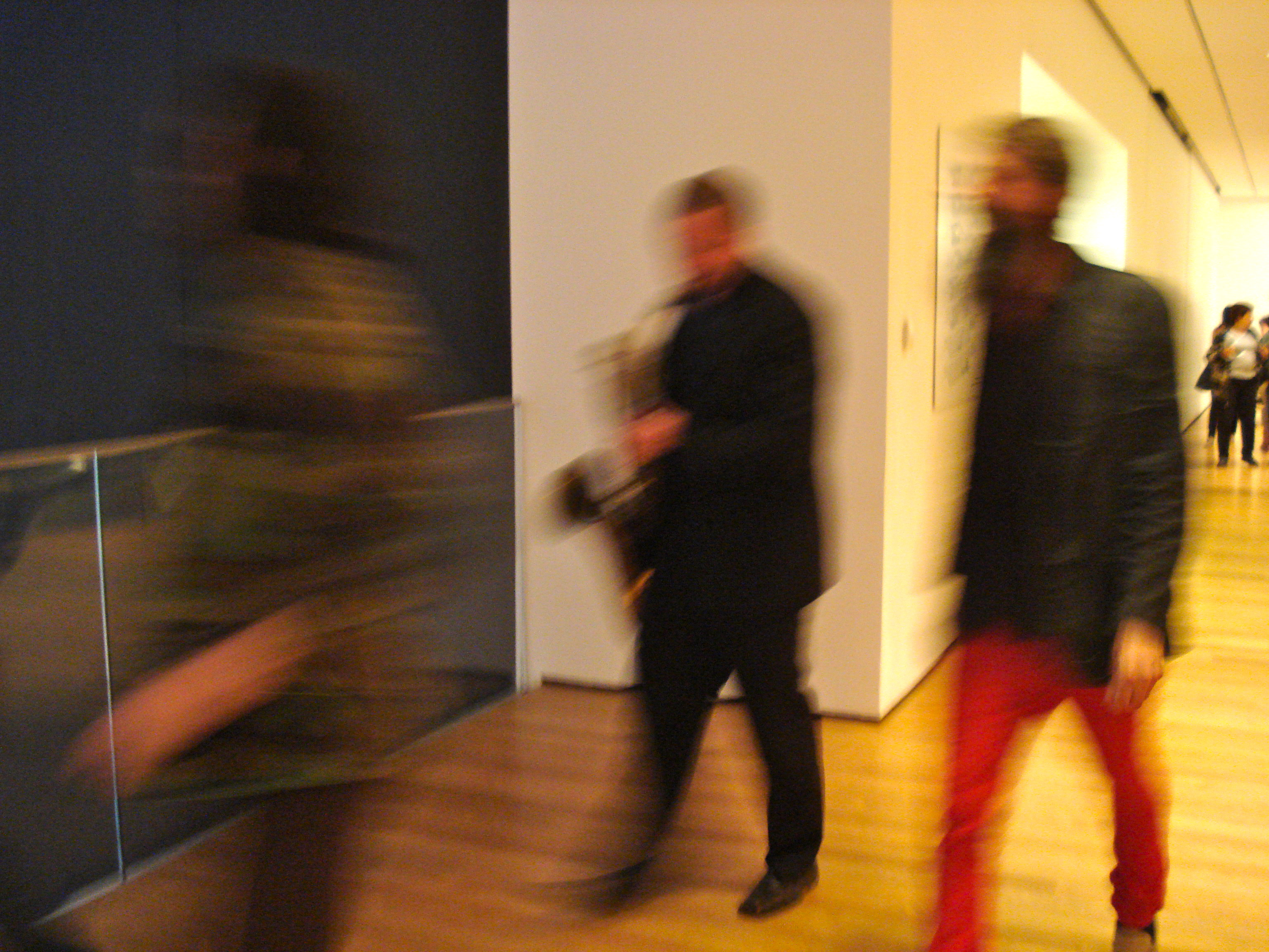 A procession of hipsters!  Led by the members of Stars like Fleas.