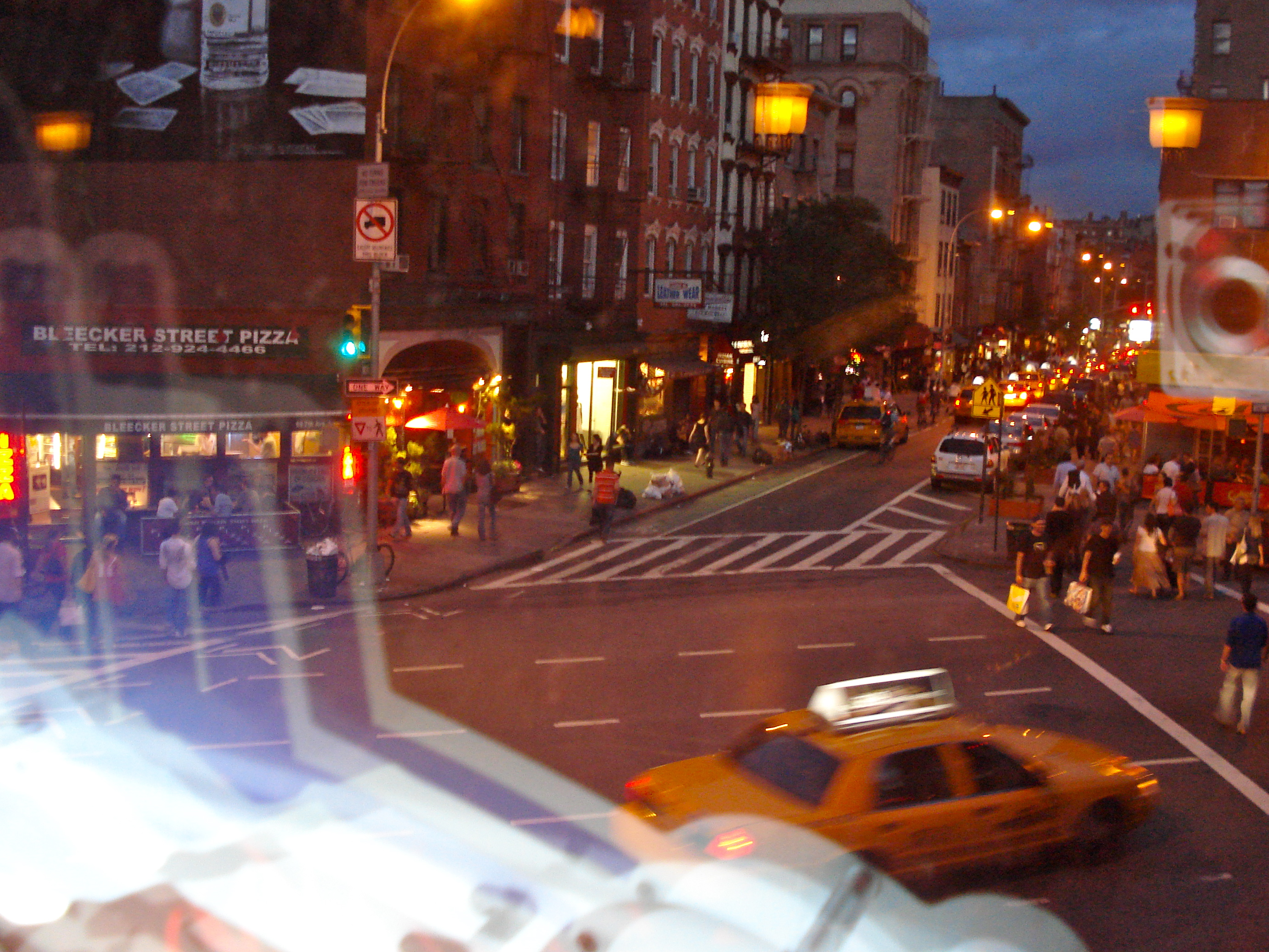 A view of the New York night life, from Bleeker Height's Tavern.