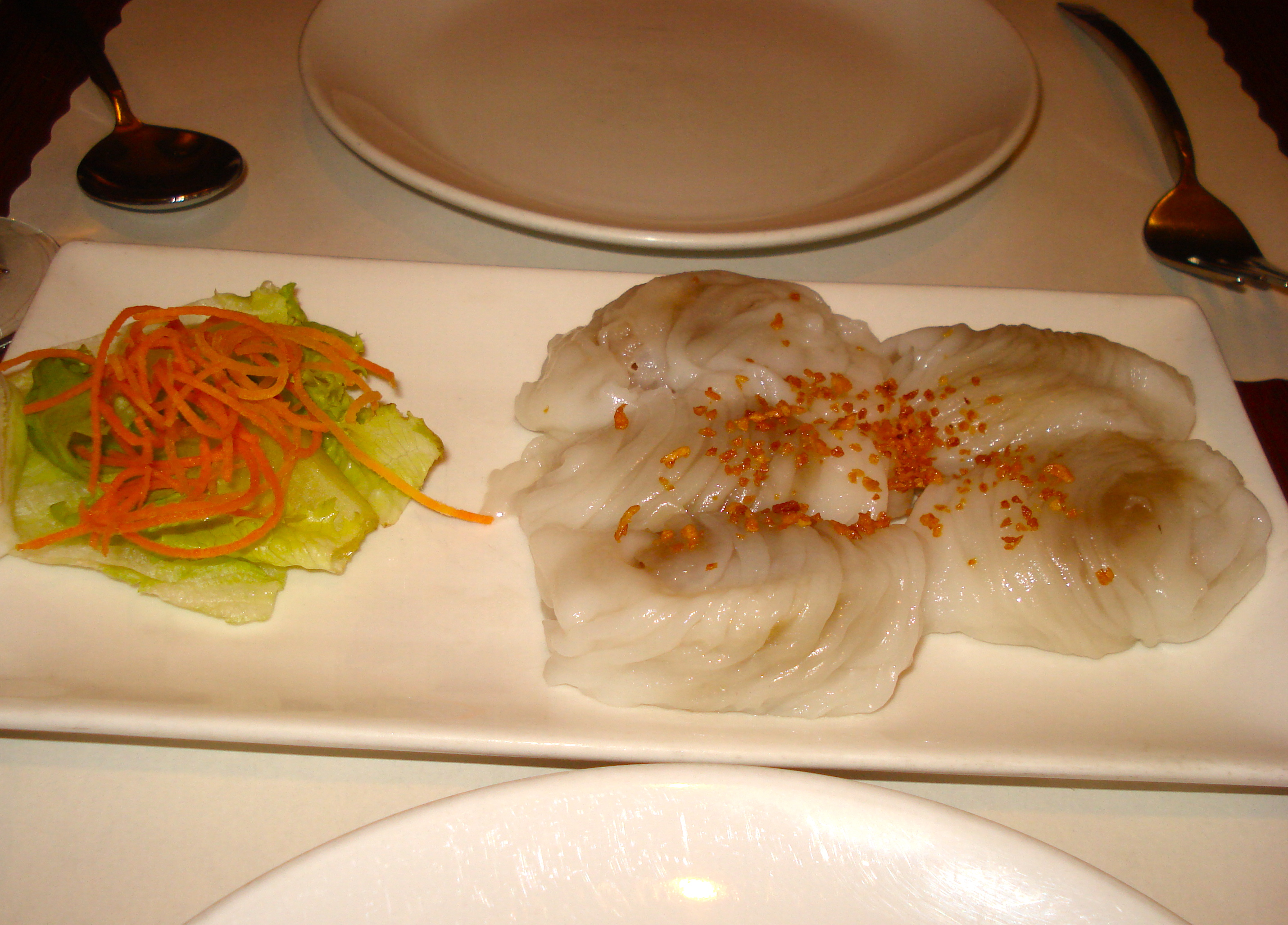 Steamed dumplings, because you can never have too many dumplings.