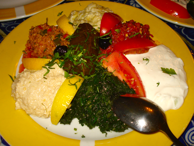 The vegetarian sampler.