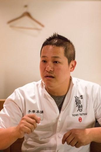 鳥哲燒物專門店負責人Tetsu