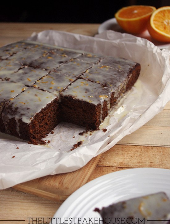 Ginger & orange traybake | The Littlest Bakehouse
