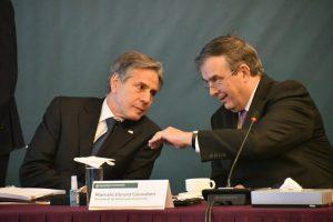 Secretary Blinken and Marcelo Ebrard on the meeting to make the Joint Declaration.