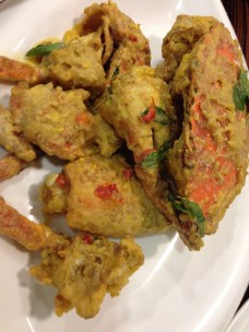 Salted egg yolk crab.