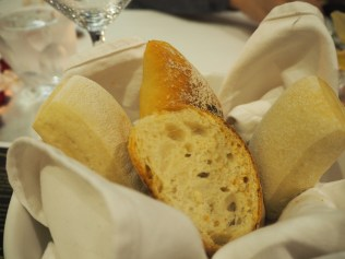 Starting out with soft warm bread.