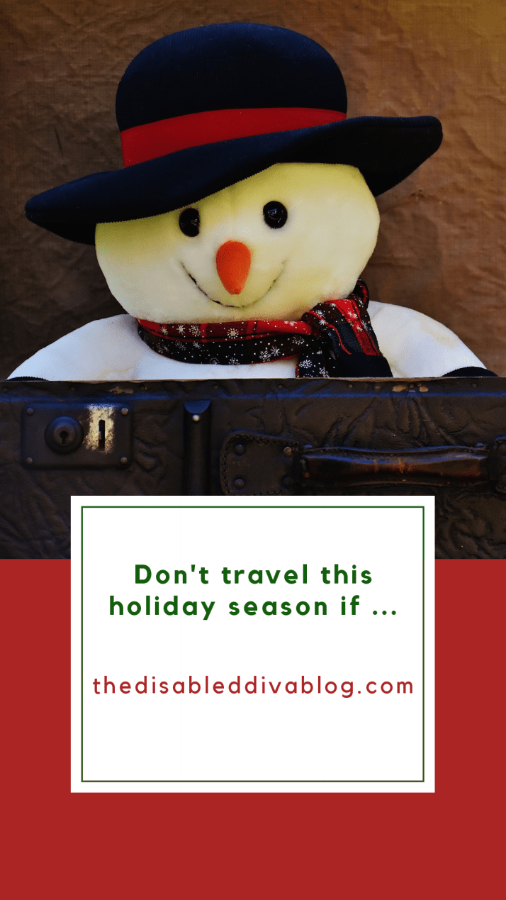 Does traveling trigger unwanted pain or fibromyalgia flares? No matter what your chronic illness, if traveling makes it worse, you may want to consider staying home this year. #saferathome #fibromyalgiaflare #autoimmunearthritis #autoimmunedisease #christmas #Thanksgiving