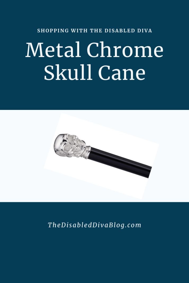 Metal Chrome Skull Cane