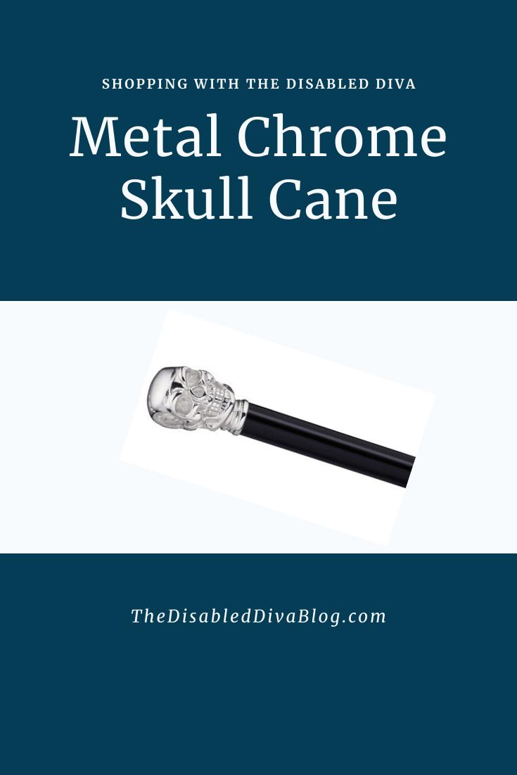 Metal Chrome Skull Cane