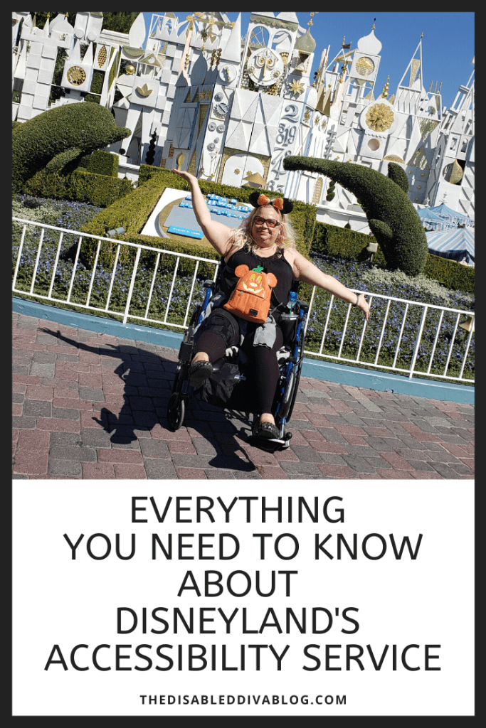 Disneyland's accessibility service can be confusing. Save yourself time and aggravation by learning everything you need to know before you go! #disneylandaccessibility #wheelchair #servicedog #specialneeds