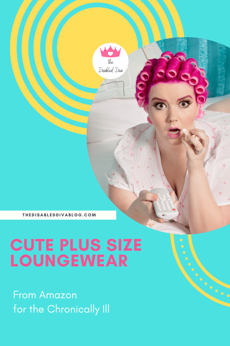 Cute plus size loungewear options from Amazon for the chronically ill. Comfortable enough for flare days and nice enough to greet guests in.
