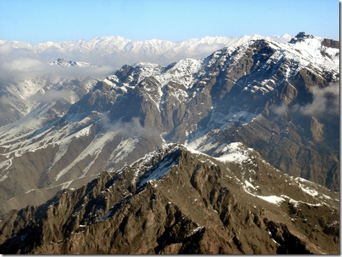 The Hindu Kush Mountains looking east and north of Kabul